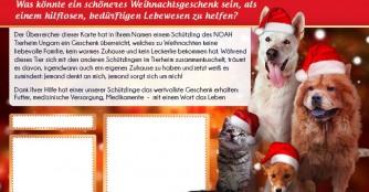 Weihnachtsspendenkarten, verschenke eine Gute Tat!
